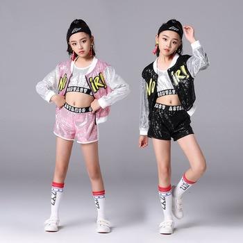 Girls Jazz Hip Hop Clothing Street Dance Of China Kids Costume For 3pcs