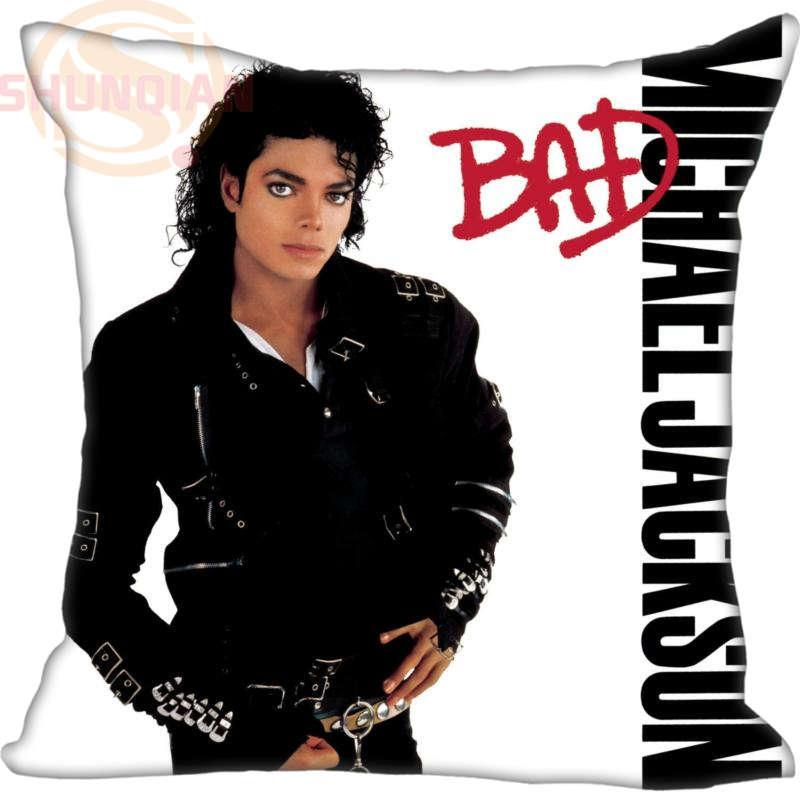 Custom Michael Jackson Square Pillowcase (25pc /per Pack) Wedding  Decorative Pillow Case Custom