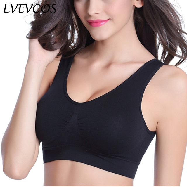 2d2149e5174 Women Seamless Bra Fitness Push up Cotton Brassiere Large Cup Plus Size  Sexy Bralette XXX BH Vest Bandeau Femme Top Underwear