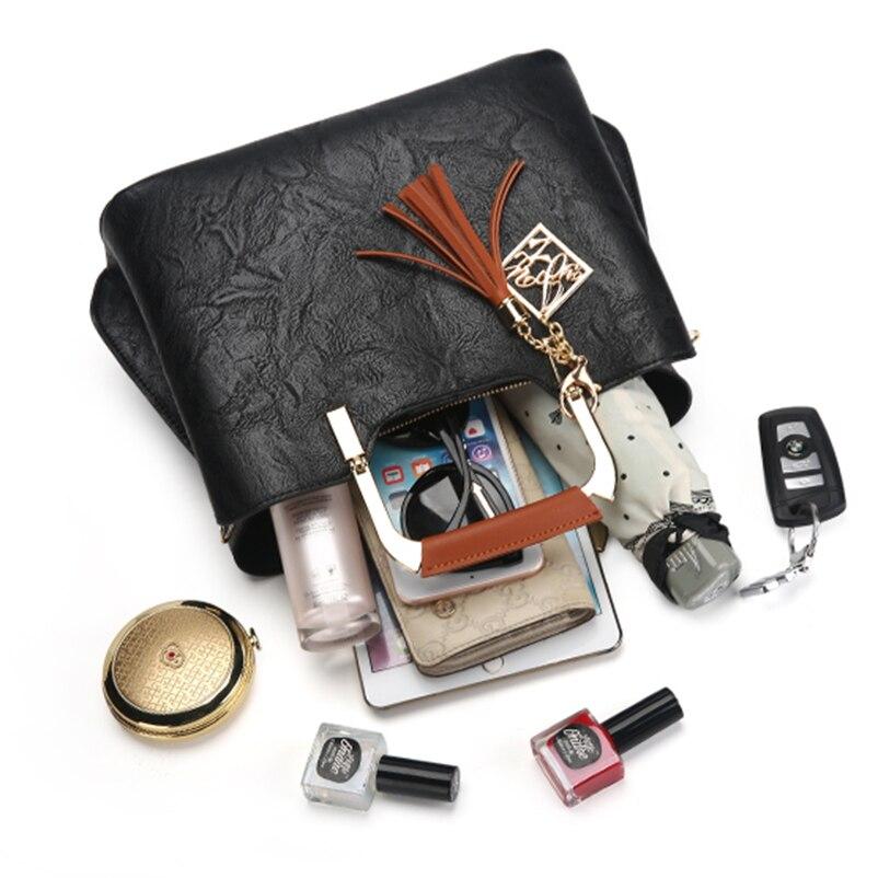 Nevenka Brand Design Women Luxury Handbags Female Tassel Sequined Messenger Bag Quality Leather Tote Solid Zipper Evening Bags18