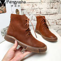 Hot Sale Shoes Martin Boots Genuine Leather Ankle Shoes Vintage Casual Shoes Brand New Retro Handmade