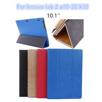 Tab 2 A10 30 Leather Case Cover 10 1 Slim Protective Stand Oracle Pattern For Lenovo