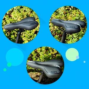 Image 5 - GEL Riflettente Shock Absorbing Hollow Sella Della Bicicletta IN Tessuto PVC Morbido Mtb Ciclismo Su Strada Mountain Bike Sella Della Bicicletta Accessori