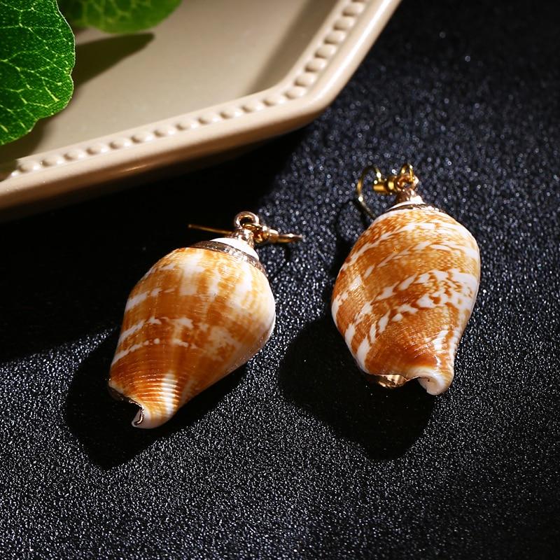 Bohopan Hot Selling Conch Dangle Earrings Female Creative Fashion Drop Earrings Unique Style Pendant Fashion Statement Bijoux in Drop Earrings from Jewelry Accessories