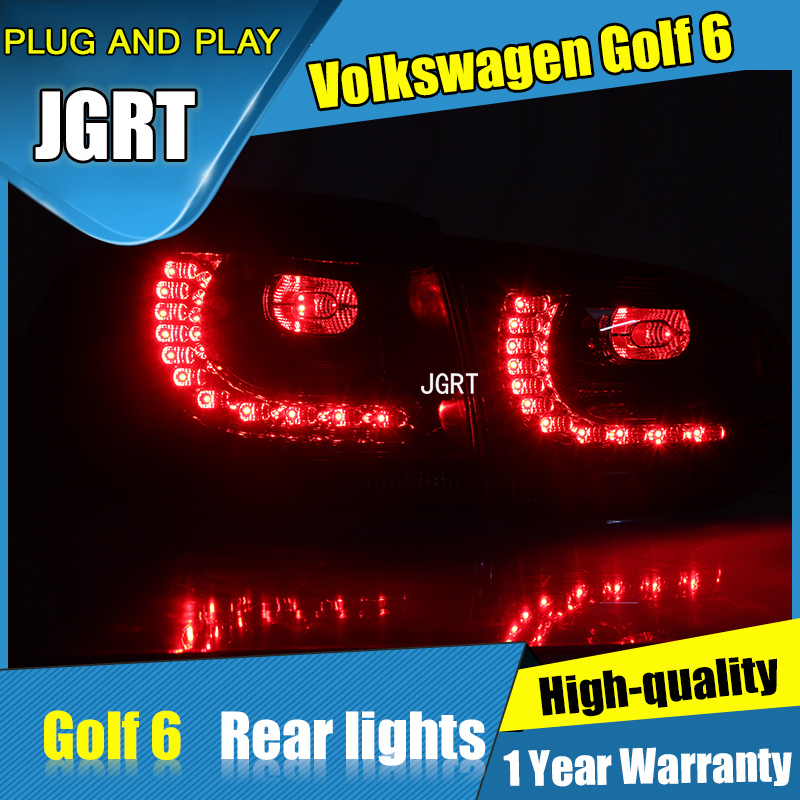 4PCS Car Styling for VW Golf 6 Taillights 2009-2012 for Golf 6 LED Tail Lamp+Turn Signal+Brake+Reverse LED light jgrt car styling for vw tiguan taillights 2010 2012 tiguan led tail lamp rear lamp led fog light for 1pair 4pcs