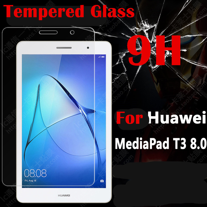 1pc/lot Screen Guard  for Huawei MediaPad T3 8.0 KOB-L09 KOB-W09 tablet 9H Tempered Glass Screen Protector Protective Film