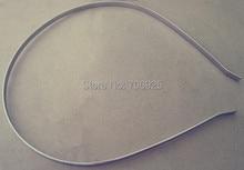 80 Pcs/lot  White K metal Headbands Bent Ends 4mm