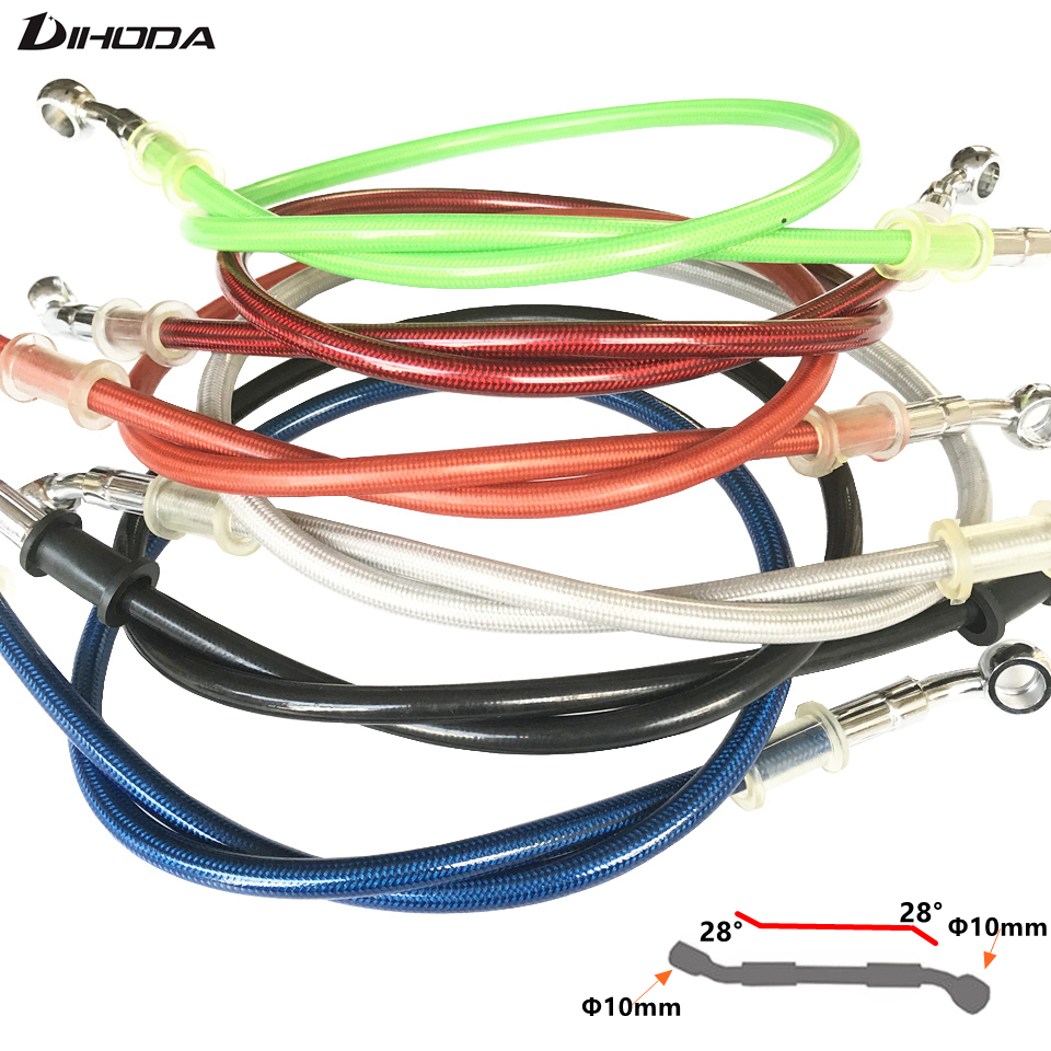 High quality 400 To 2200mm Motorcycle Hydraulic Reinforced Brake Clutch Oil Hose Line Pipe Fit ATV Dirt Pit Racing Bike MX 500mm 600mm 700mm 800mm 900mm hydraulic reinforced brake clutch oil hose line pipe for motorcycle motocross dirt pit bike atv