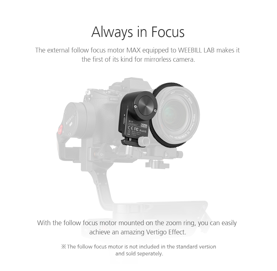 ZHIYUN Official Weebill LAB 3-Axis Image Transmission Stabilizer for Mirrorless Camera OLED Display Handheld Gimbal 10