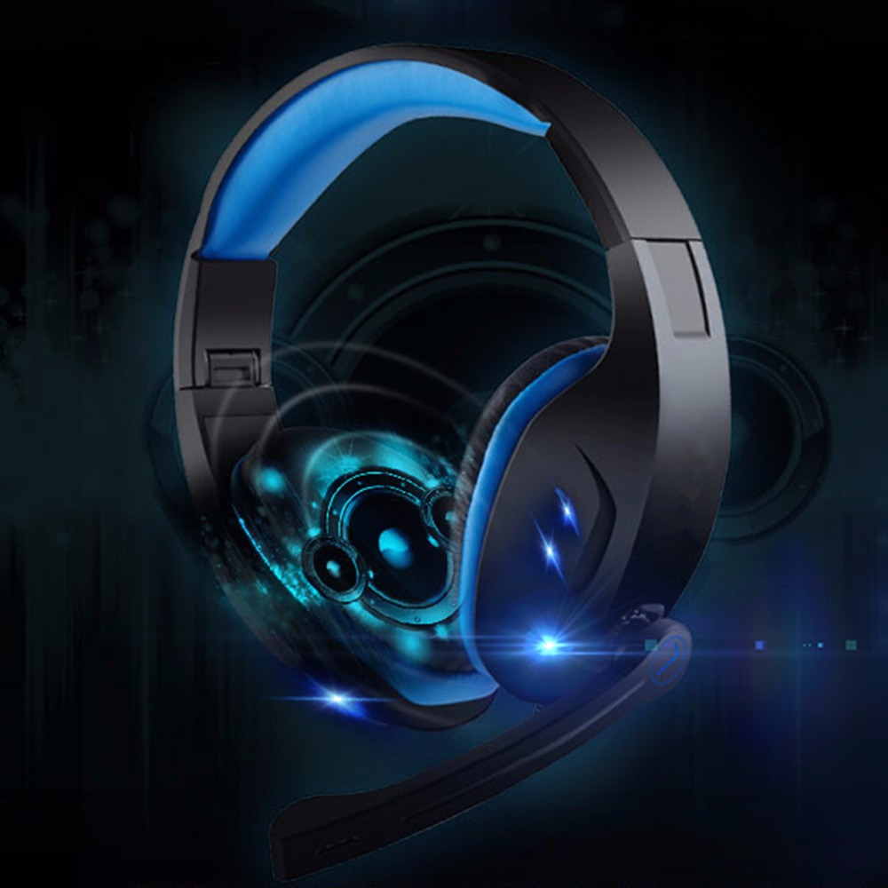 SOONHUA Wired Gaming Headset USB Plug LED Light Headphone Deep Bass Game Earphone With HD Mic Professional Game Headset For PC