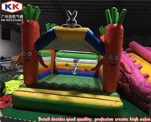 Дети смешно открытый Коммерческий Надувной Батут Надувные морковь Вышибала Для Продажи