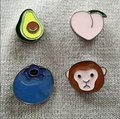 2016 Shirt Collar Pin Brooch  Fashion cute Fruit animal monkey Lapel Pin brooch small mini button Brooch collar brooches