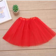 Summer Fashion Baby Girl Tutu Skirt Solid Newborn Tulle Princess Clothes for Ballet Dance Infant 2-8Y