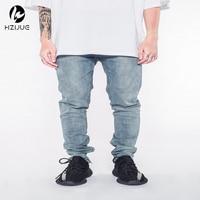 Korean Jumpsuit Mens Designer Clothes Urban Clothing Club Fashion Singer Justin Bieber Fog Blue Skinny Ankle