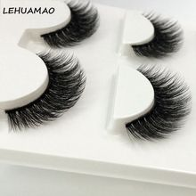 Brand New 3 Pairs/Set False Eyelashes 3D Mink Makeup Eye Lashes Extension Black Thick Cross Long Fake Eyelash maquiagem