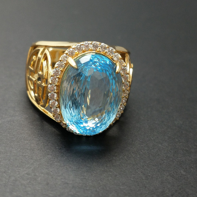 topaz glitzy product free blue ring watches jewelry silver sky rocks on shipping rings sterling