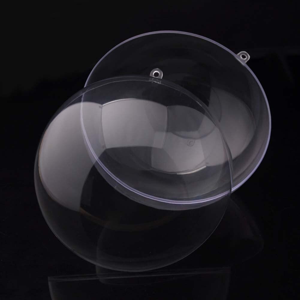 1pcs Home & Living Clear Plastic Bath Bomb Molds Crafting Mold Fillable Ball  Ornament Christmas Ball