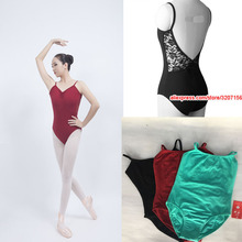 Gimnastik Leotard Adult 2018 Reka bentuk baru Renda Tarian Kostum High Quality Black Ballet Dancing Wear Gymnastics Leotard