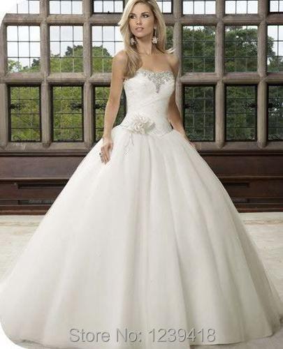 2015 nueva encanto vestido de boda blanco nupcial de baile vestido ...