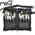 Juego de brochas de maquillaje MSQ Pro 32 uds, kit de brochas de maquillaje suaves para base de pelo Animal de gran calidad con funda de cinturón de cuero PU