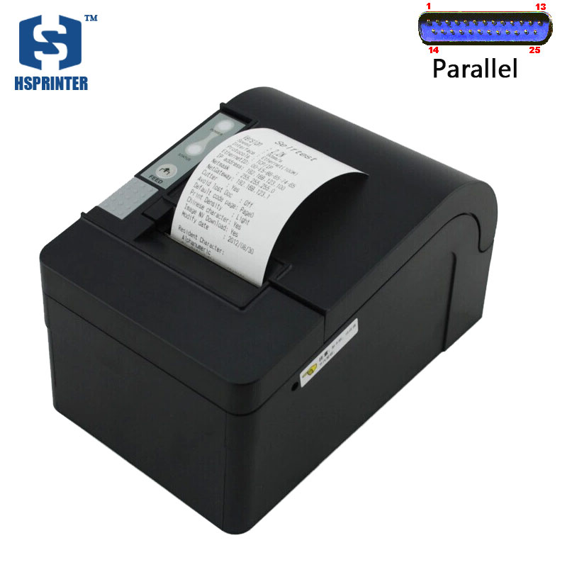 ФОТО 58mm thermal receipt printer with auto cutter parallel interface big gear wheel billing machine HS-T58KPC with one year warranty