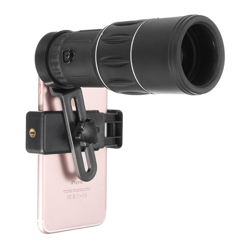 bilder für 16x52 Teleskop Monokularen Wandern Concert Handy-kamera-objektiv 10x Zoom Objektiv mit Clip Universal Für Samsung Für iPhone Smartphones