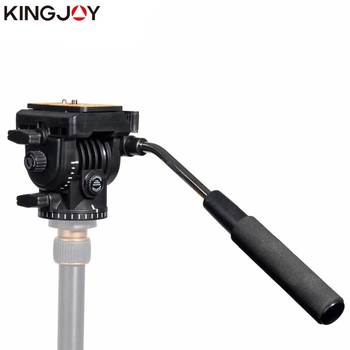 KINGJOY Official VT-1510 Panoramic Tripod Head Hydraulic Fluid Video Head For Tripod And Monopod Camera Holder Stand SLR DSLR panoramic tripod head hydraulic fluid video head for tripod monopod dslr camera camcorder dv professional pan head extra plate