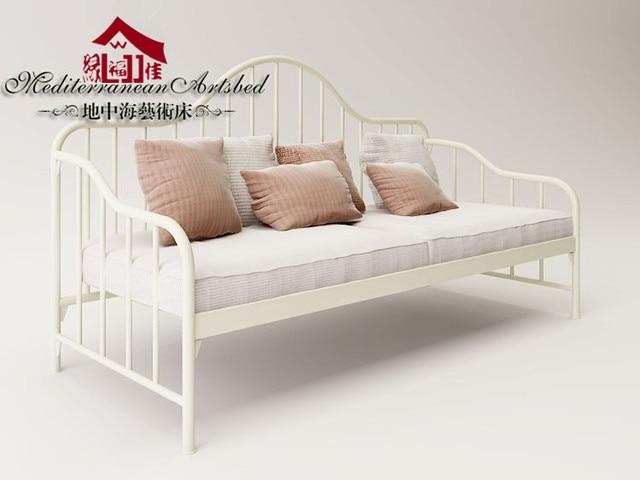 Wrought Iron Sofa Bed Art Metal Skeleton Fujian Dismantling Continental Furniture Double