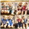 Cute Teddy Bear Dolls Wear The Clothes Small Teddy Bear Plush Toys Kawaii Kids Brinquedo Gifts