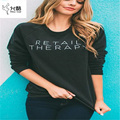 Casual long-sleeved velvet warm women's Sweatshirt Women Hoodies 2017 autumn and winter fashion Letter Print Plus Size Hoodies