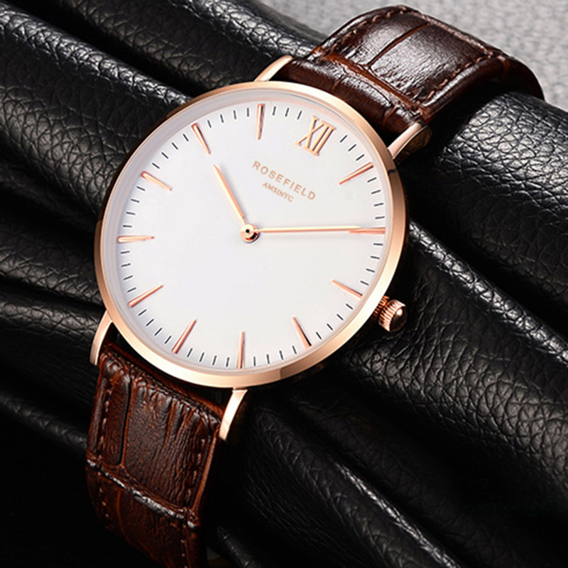 New listing Watch Quartz Leather Quartz Movement Water Resistant 3ATM Watch Women Dress Men Famous Casual