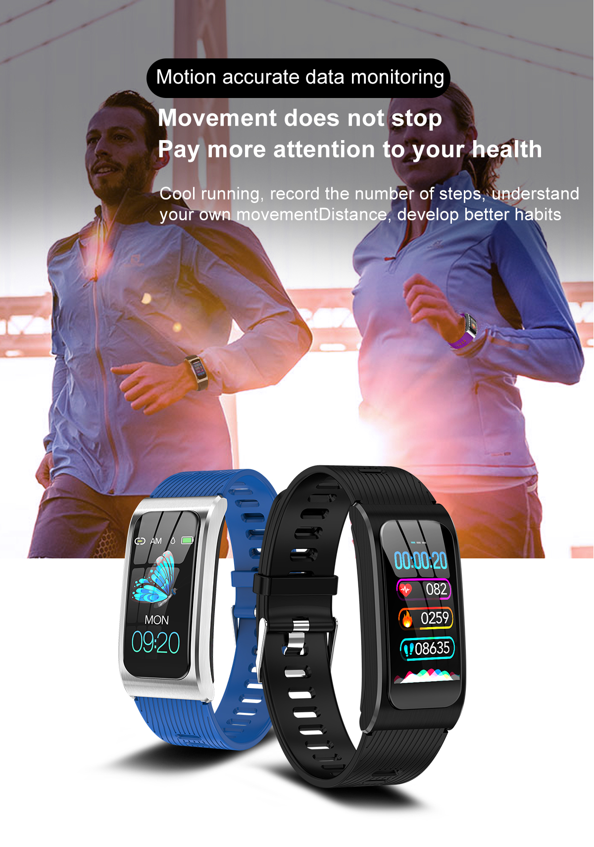"""Smartwatch 1,14"""" IP68 impermeable Android IOS 7"""