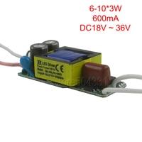 1 stks AC110V 220 V voor E27 E14 GU10 Led 600mA 6-10x3W 7x3 W 9x3 W 18 W 21 W 24 W 30 W LED Driver Voeding verlichting transformator