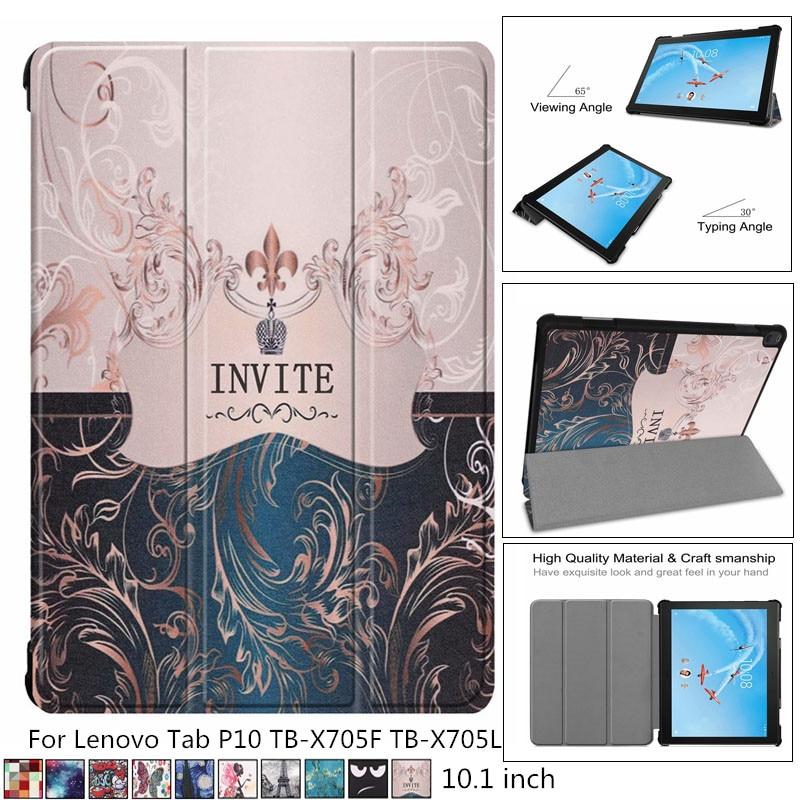 Light weight Slim Magnetic Folding cover case For Lenovo Tab P10 TB X705F TB X705L 10'Smart case For Lenovo Tab P10 X705 case|Tablets & e-Books Case| |  - title=