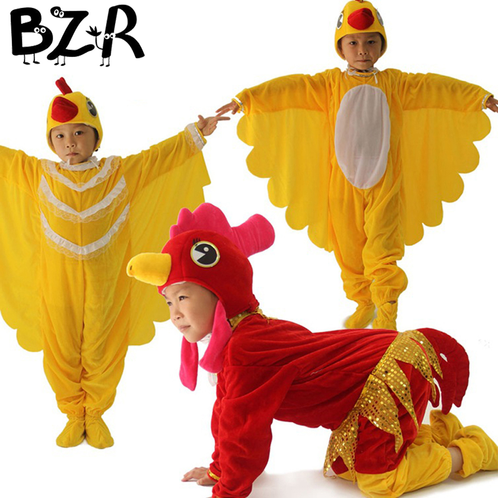 Bazzery Children Cosplay Clothing Unisex Stage Show Animal Cosplay Costumes Boys Girl Cock Hen Chick Performance Drama Wear Suit
