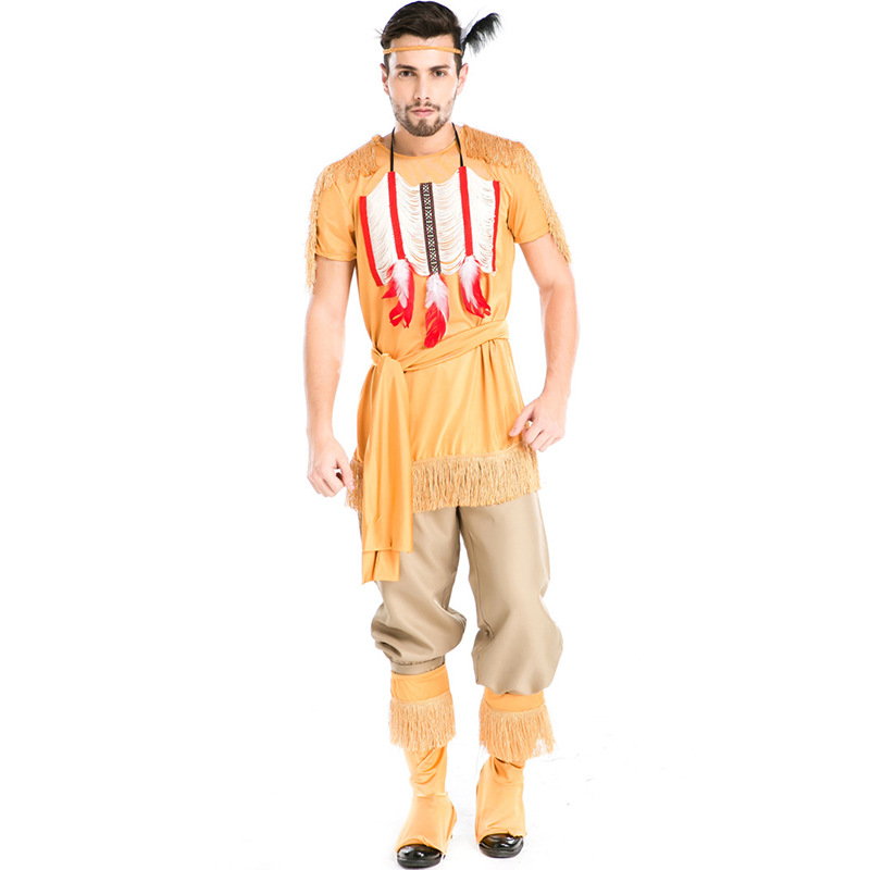 Halloween Costumes Adult Men Indian Hunter Archers Costume Uniform Fancy Cosplay Clothing for Men