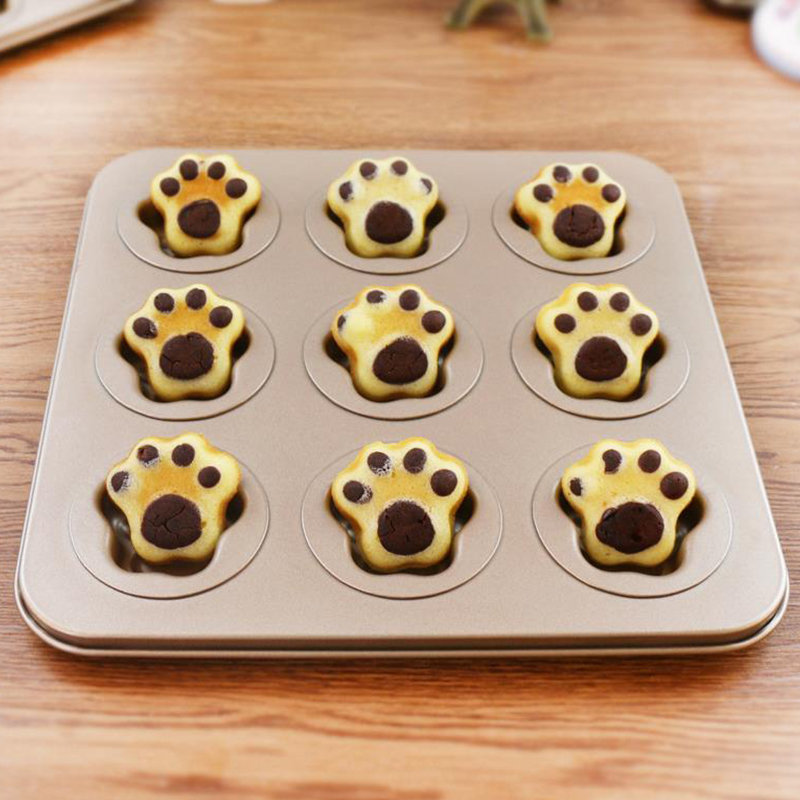 MyLifeUNIT Cat Claw Cake Mold Non Stick Muffin Madeleine Cake Pan DIY Bakeware Mold