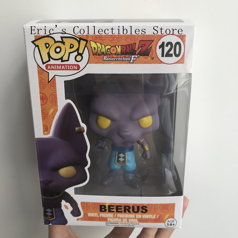 FUNKO POP Dragon Ball Z Beerus Model Toy PVC Action Figure Super Saiyan Vinyl Figure Doll Collection Toy in box