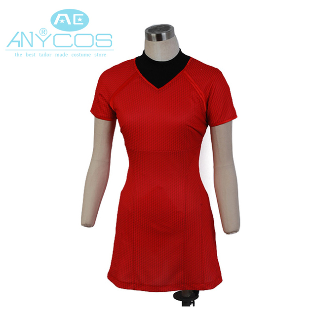 star trek into darkness uhura red dress movie halloween cosplay costumes for women plus size - Uhura Halloween Costume