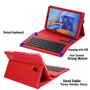 Image 3 - Keyboard Case for Samsung Galaxy Tab A 10.5 2018 SM T590 SM T595 T590 T595 Case Keyboard for Samsung Tab A 10.5 Cover + Keyboard