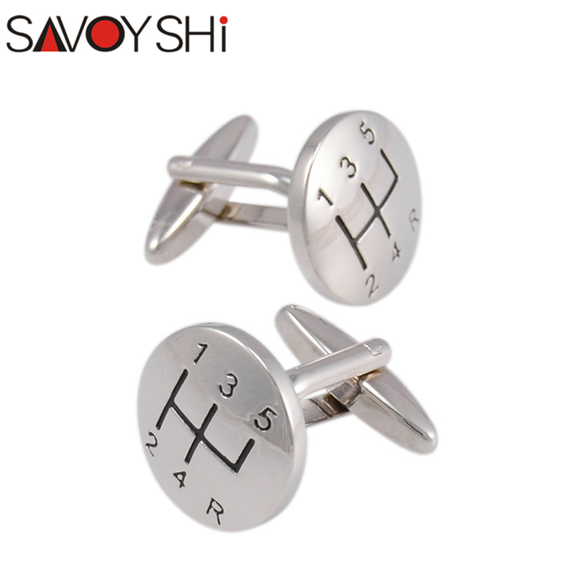 SAVOYSHI 1 Pair Men Vintage Cuff links Silver Color Round Cufflinks Metal Cuff Buttons Sleeve Shirt Buttons with Gift Box JSP053 pair of stylish solid color hollow out knot shape alloy cufflinks for men