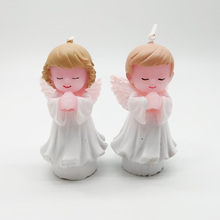 Praying angel candle birthday cake topper Party decoration Baby shower fortnight party Wedding supplies