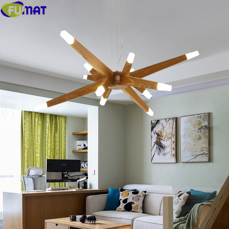 FUMAT Chandelier Wood Branch Chandelier Living Room G4 LED Lustres Modern Chandeliers China Wood Branch Chandelier Lighting