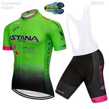 2019 Pro Team verano ASTANA Ciclismo Jersey conjunto Ropa Ciclismo Hombre Ropa...