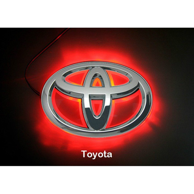 Led Car Decal Logo Back Light For Toyota Camry Tail Light Auto Badge