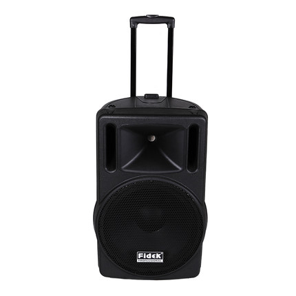 Fidek FPX-151BT  Professional Audio mobile speaker Trolley speaker battery high-power outdoor 2-way speaker 15 inch with remote neutrik scnac fpx
