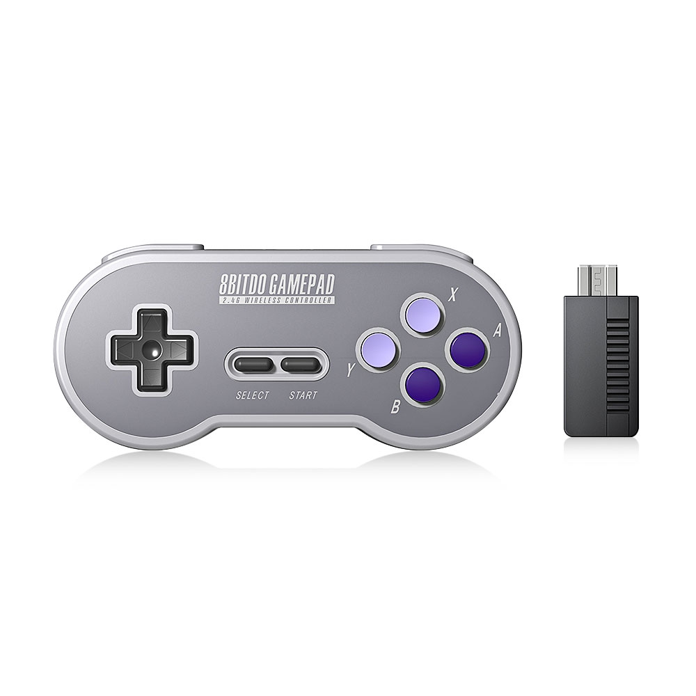 8Bitdo SN30 Wireless Bluetooth Gamepad with 2.4G NES Receiver for for Nintendo Switch Steam Joysticks Windows Android MAC