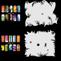 20 Sheets/Lot Airbrush Nail Art STENCIL DESIGNS For Nail Art Template Set No.10