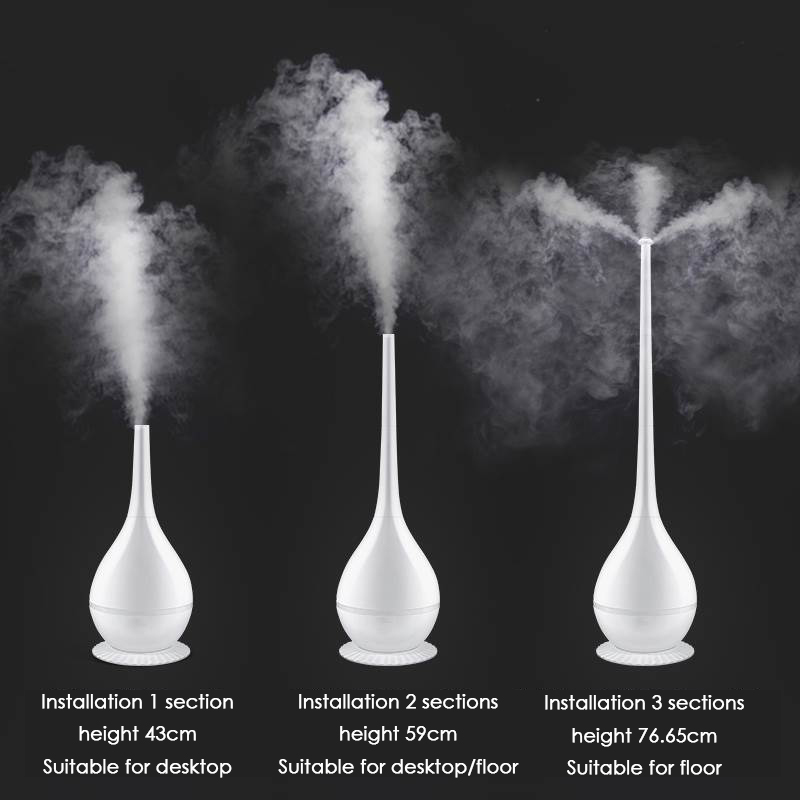 Floor standing Household Humidifier 350ml H 2000ml Large Capacity Mute Air Humidifier Detachable Desktop Diffuser Mist