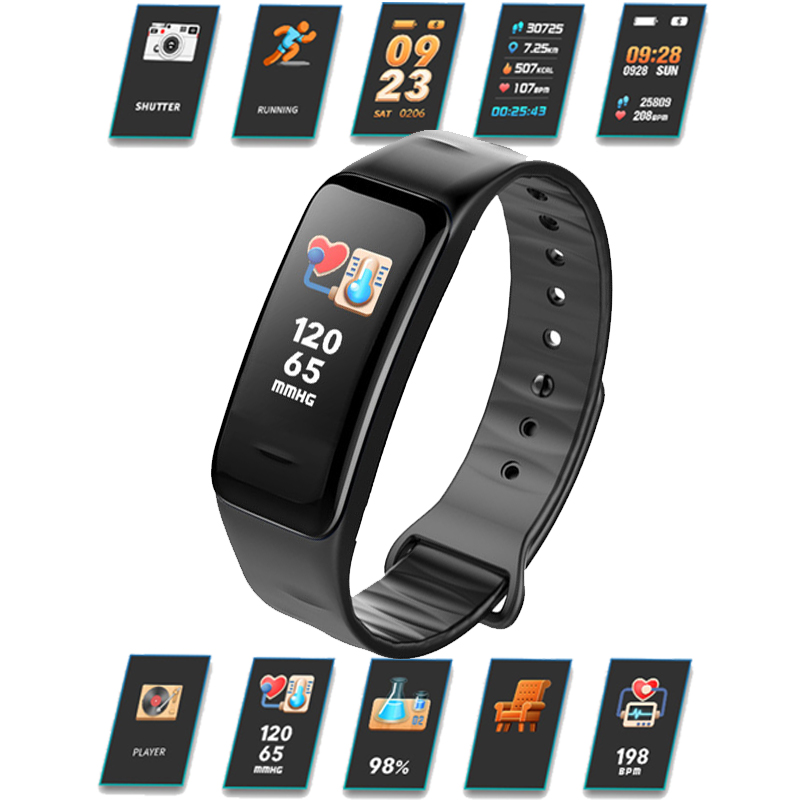 Image 2 - Health Bracelet Heart Rate Monitor Blood Pressure Measurement Smart Band Fitness Tracker Wristband for iPhone xiaomi pk fitbits-in Smart Wristbands from Consumer Electronics